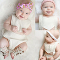 White Babys Cute Bodysuits Toddles Backless Bodysuits Summer Kids Solid Kids Casual Clothes Free Shipping