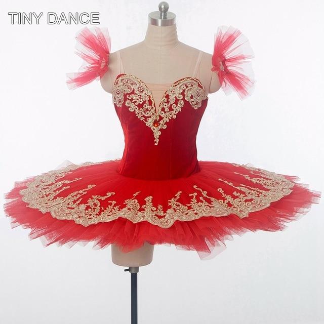 7c9f61ad1a83 Red Professional Classical Ballet Dance Tutus Ballerina Tutu Dress Girls  Solo Dance Costumes Customize Pancake Tutu