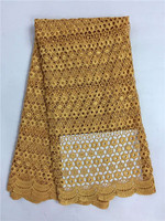 Top Selling  Design Water Soluble Lace For Sewing Cheap High Quality African Guipure Lace Fabric