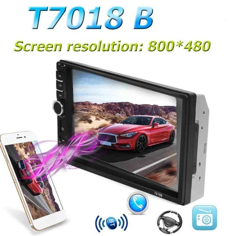 SWM T7018B 7 inch Screen Bluetooth Auto Stereo MP5 Player Fahrzeug USB FM Radio Kopf Einheit Lenkrad Lernen Funktion