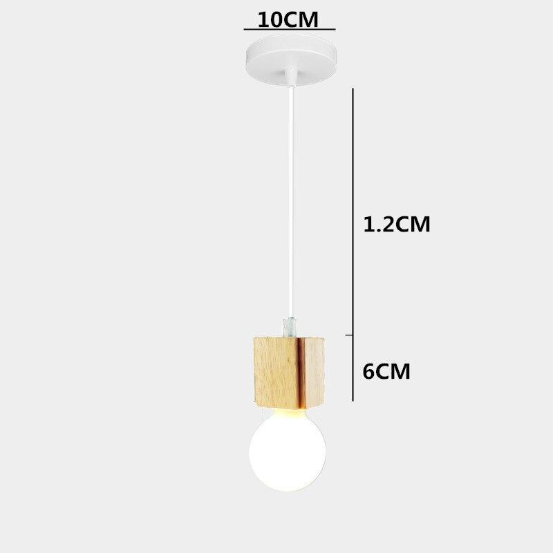 Colgante Luz De Interior 1Post Lámpara Moderna Led Madera wX0O8nPk