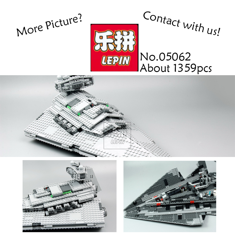 Lepin 05062 Star War Series The Imperial Super Star Destroyer Set Building Blocks Bricks Educational Toys Gift Compatible 75055 lepin 05028 3208pcs star wars building blocks imperial star destroyer model action bricks toys compatible legoed 75055