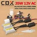 Alta Qualidade 35 W 12 V AC ESCONDEU Kits Cnight Xenon Bulb 3000 K 4300 K 5000 K 6000 K 8000 K H1 H3 H7 H11 9005 9006 + Fino Xenon lastro