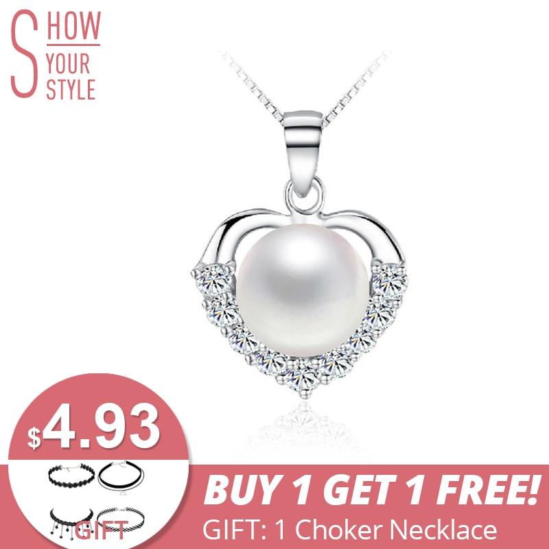 ZHBORUINI gyöngy nyaklánc 925 ezüst ékszer női gyöngy ékszerek - Divatékszer