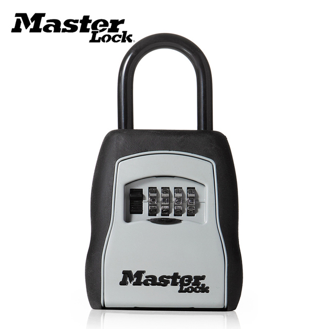 Key Safe Box Password Combination Portable Lock Box Outdoor Padlock For Keys Storage Home Office Use Security Hook Safe Lock