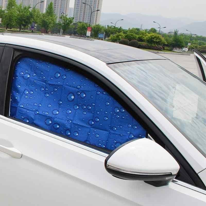 ستارة للحماية من أشعة الشمس المغناطيسي للنوافذ الجانبية للسيارة حاجب للشمس للصيف 4 طبقات بغطاء للحماية من الأشعة فوق البنفسجية