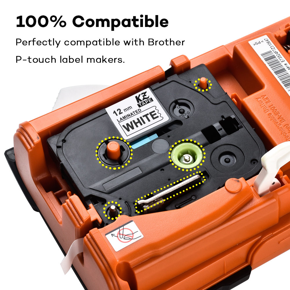 CIDY TZE 231 Multicolor and Waterproof Label Tape Compatible for Brother P Touch Label Printer 2