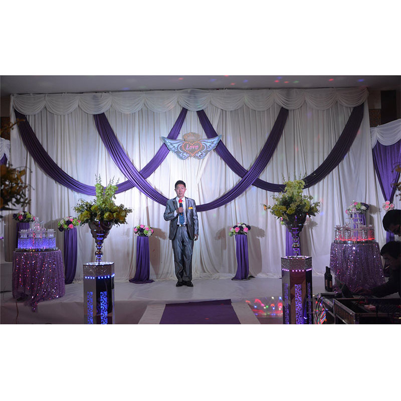 Aliexpress Buy 2016 Purple And White Wedding Backdrop With