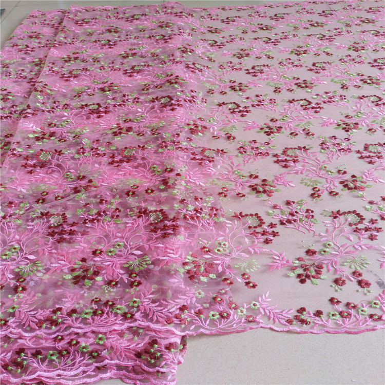 Soft Mesh Lace Fabric Pink Green Champagne Color Lace Fabric DIY Material for Dress Curtain Lace Fabric Doll Dress Fabric