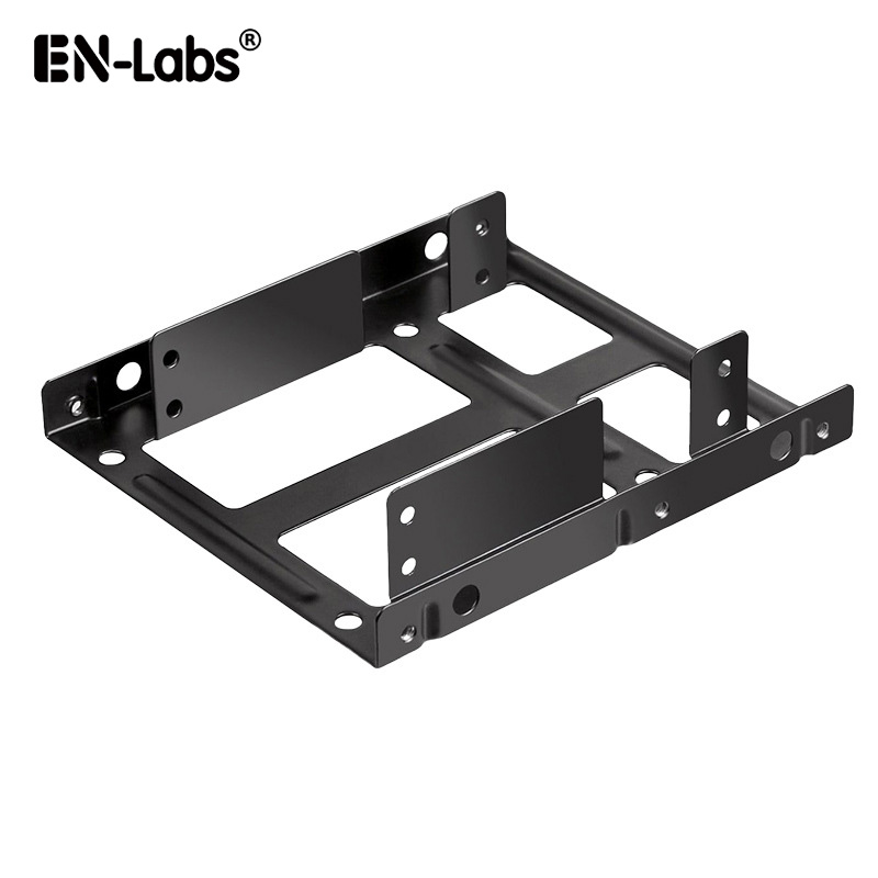 En-Labs Metal Dual 2.5 to 3.5 Hard Drive Bay Mounting Bracket - 2 X 2.5 to 3.5 HDD / SSD Mounting Bracket - Black цена
