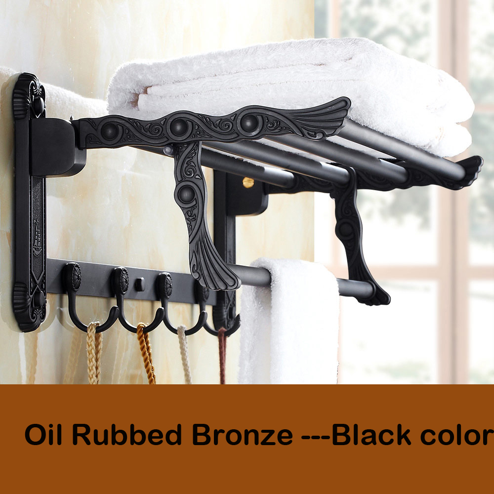 Oil Bathroom Shelves Rubbed Bronze Towel Racks For Shelf With