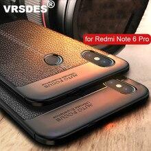 Case for Xiaomi Redmi Note 6 Pro Case Bumper Cover Soft Silicone Case Leather Pattern Case
