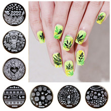 50 Designs Nail Art Stamping 6.5cm Round/Crown/Flower Template For Accessories Template#HEHE