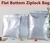 Free Shipping 100pcs/lot Aluminum Foil Bags Flat Bottom Ziplock Packaging Bag Resealable Retail Bag
