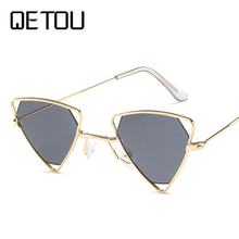 Luxury Cat Eye Sunglasses Women Cool Brand Female Sun Glasses Vintage Metal Frame Mirror Ladies Shades Trending Triangle Eyewear все цены