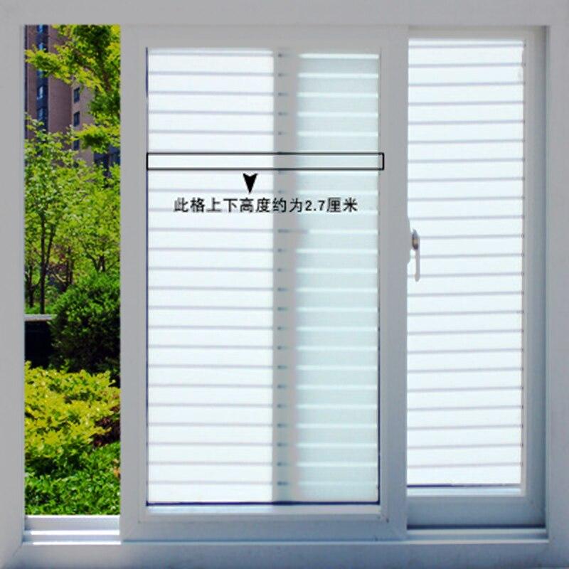 Us 729 10 Off177x788 Cal Białe Paski Wzór Folia Okienna Prywatności Pcv Samoprzylepne Dekoracyjne Szkło Film Nieprzezroczyste Matowe Naklejki