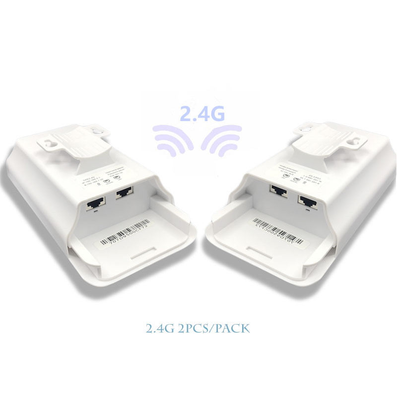 2 Pieces 1-3 Km 300 Mbit Open Router CPE 2.4G Wireless Access Point Router Wi-Fi Bridge  Extension Center Router With 24 V POE
