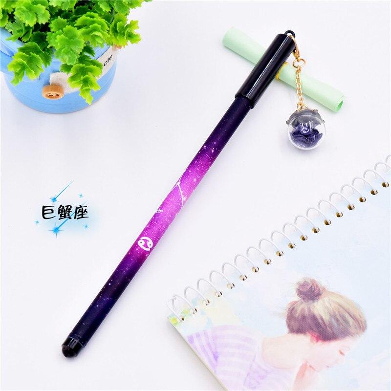 Image 3 - 12Pcs/Set Creative Mini Gel Pens Kawaii Cute Constellation Writing Pen 0.5mm Black Ink Color Pendant Pencil School Stationery-in Gel Pens from Office & School Supplies