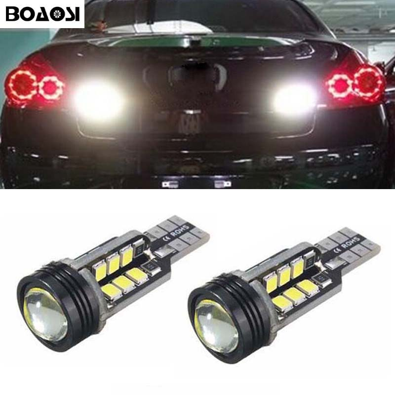 BOAOSI 2x Error Free LED Bulbs For Backup Reverse Light T15 For Infiniti G25 QX50/60 M37 M25L FX50 JX35 EX37 EX25 FX37 FX35 G37 universal windshield motorcycle motocross moto fairing fastener bolt screw for honda kawasaki zzr600 zx6r zx9r zx10r z1000 zx12r