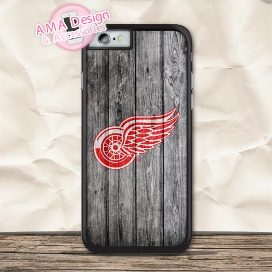 Detroit Red Wingz Ice Hockey Case For iPhone X 8 7 6 6s Plus 5 5s SE 5c 4 4s For iPod Touch
