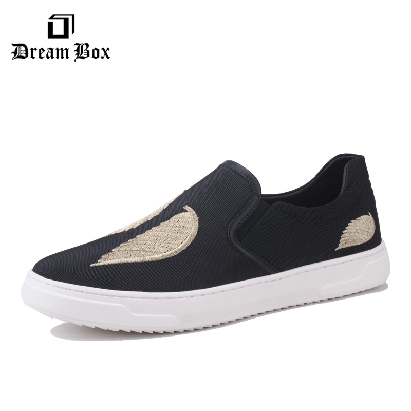 dreambox Summer and European fashion embroidery flat loafers with men's shoes dreambox 800 hd крайот