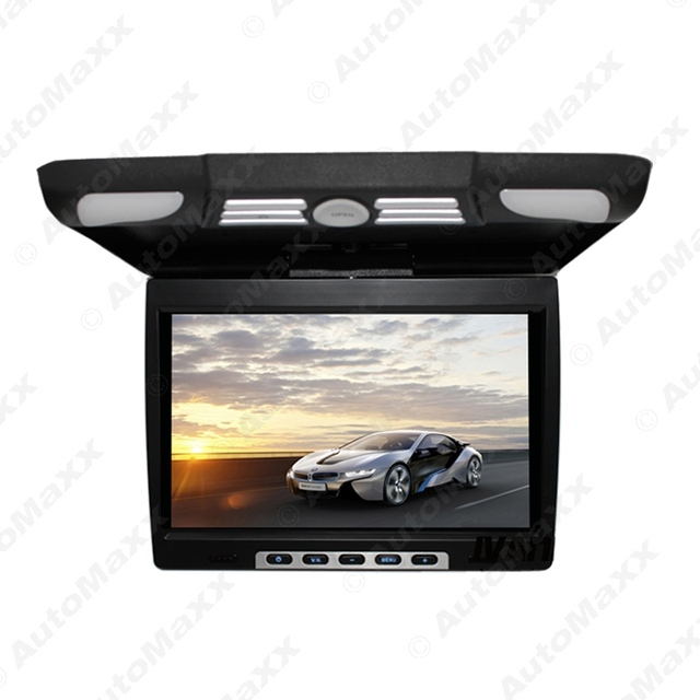 """Negro DC12V 14.1 """"Pulgadas Del Coche/Autobús TFT LCD Monitor de Montaje En Techo, Tapa de Monitor de Entrada De Vídeo De 2-vías de $ Number Colores # J-1290"""
