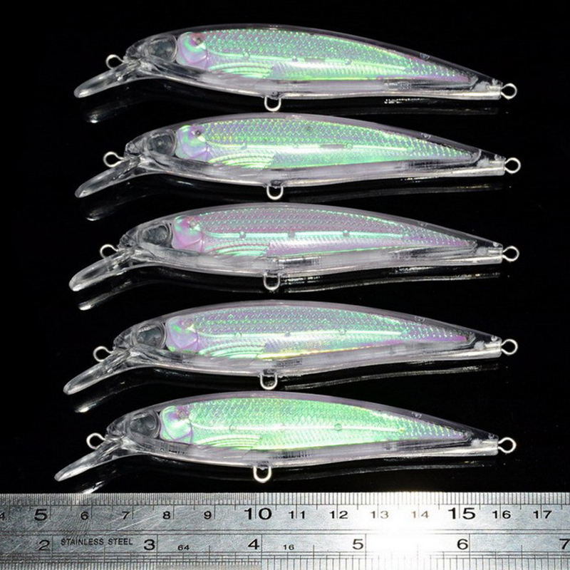 20 Pcs/kit Fishing <font><b>Lure</b></font> <font><b>Blank</b></font> Crankbait Unpainted Hard Bait 11cm / 4.3 Inch image