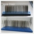 Korean High quality professional stainless steel remy hair hackle needle hairbrush 93teeth