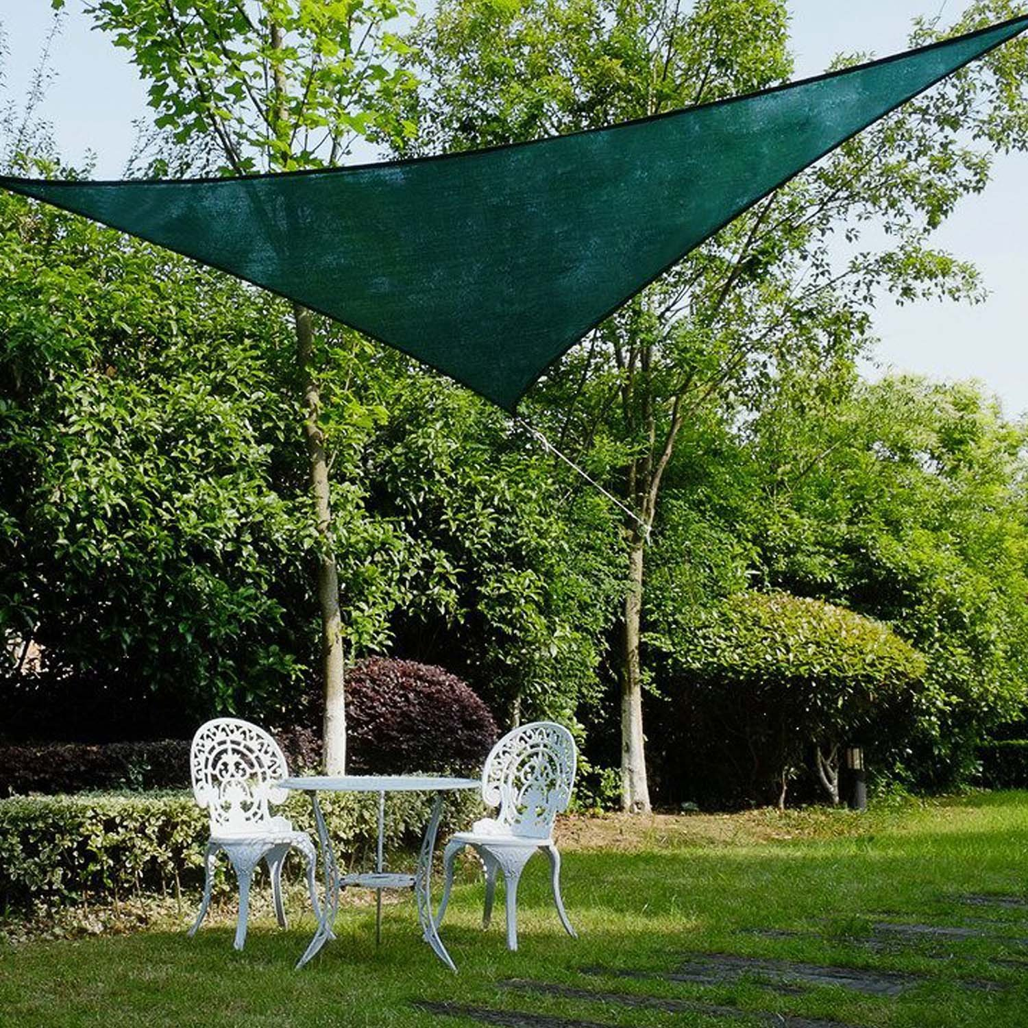 Jinguan 12u0027x12u0027x12u0027 Shade Sail UV Block Fabric Patio Outdoor Canopy Sun  Shelter With PE Ropes And Steel D Rings In Shade Sails U0026 Nets From Home U0026  Garden On ...