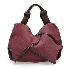 The New Spring 2017 with Female Canvas Bag Leather Wet Hand The Bill of Lading Shoulder Multi-purpose Foreign Trade Leisure
