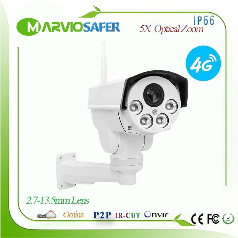 1080P 4G 3G SIM PTZ Outdoor Network wifi IP Camera 2MP Wireless IPCAM Camara 2.7-13.5mm 5X Optical Zoom Lens wi-fi Camera