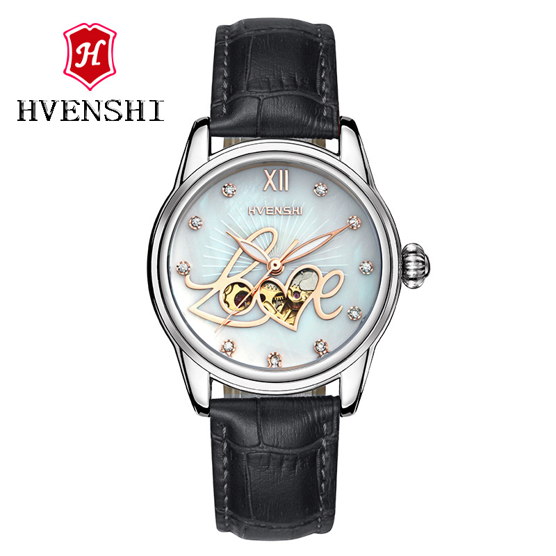 TOP Fashion Automatic Mechanical Watch Steel Watches Women Luxury Brand 5TM Waterproof Relogio Feminino girl wristwatches ultra luxury 2 3 5 modes german motor watch winder white color wooden black pu leater inside automatic watch winder