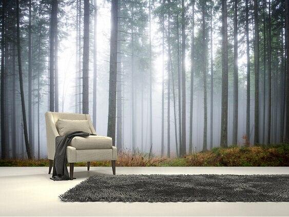 Personnalisee Fond D Ecran Naturel Matin Foret Brume 3d Paysage
