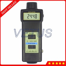 Sale GED2600 2 in 1 Digital Engine Laser Tachometer with Motor Machine Automobile Rotate Speed Tester gauge