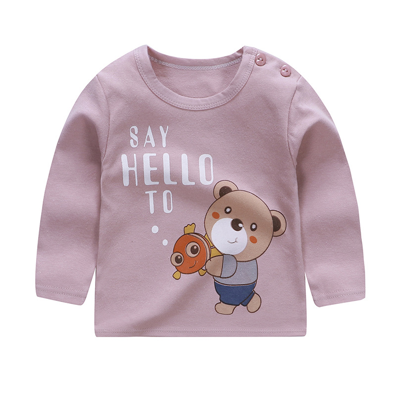 <font><b>Baby</b></font> Tops Summer 2019 Cute Kids <font><b>Tshirt</b></font> <font><b>Baby</b></font> Girl Clothes T-shirts <font><b>Animal</b></font> Print Children Long Sleeve T shirts for Boys Clothing image