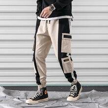 M-3XL 2019 Spring Track Pants Men Sweatpants Mens Joggers Pants Cargo Camo Tactical Harem Black Military Pants