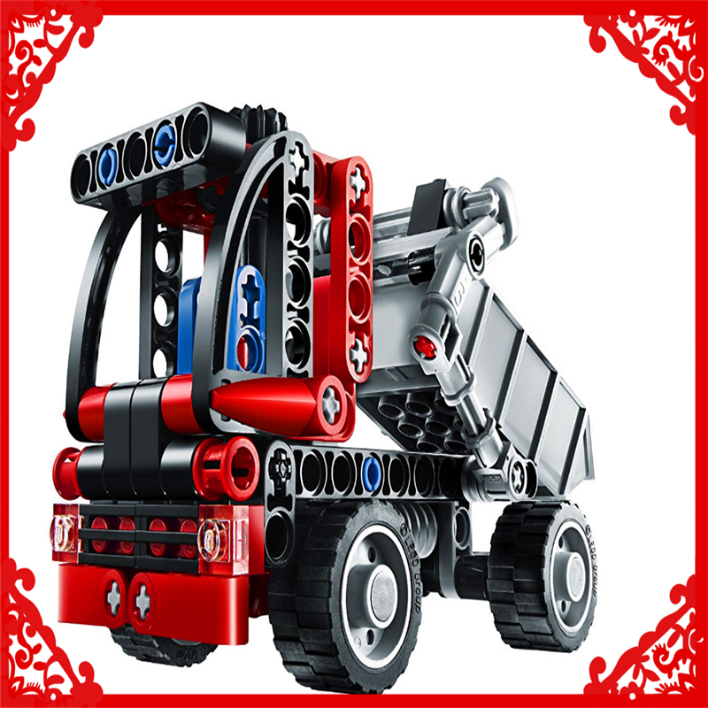 119Pcs Technic City Series Mini Container Truck Model Building Block Toys KAZI 3345 Gift For Children Compatible Legoe 8065 jie star fire ladder truck 3 kinds deformations city fire series building block toys for children diy assembled block toy 22024