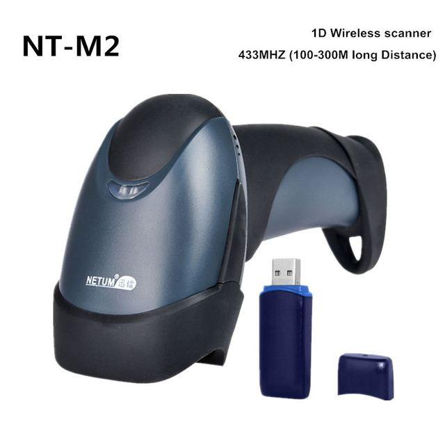 Free Shipping Wireless Barcode Scanner Reader Handheld 32 Bit High Scanned Speed Cordless POS Bar Code Scanner  NT-M2