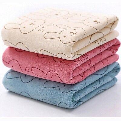 Baby Microfiber Absorbent Drying Bath Beach Towel Washcloth Swimwear Baby Towel  New Hot Casual