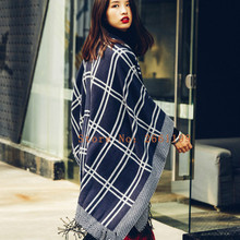 2016 New Scarf Women High quality scarves Tartan Plaid Scarf Blanket Oversized Wrap Shawl dress winter scarves 20018