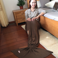 A Recruitment Agency On Behalf Of Cotton Knitted Wool Blanket Blanket Mermaid Summer Nap Blanket Deng