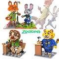 Zootopia Diamond Building Blocks Judy Nick Benjamin Flash Animals Model Fun Toys ABS DIY Mini Bricks Cartoon Gift For Children