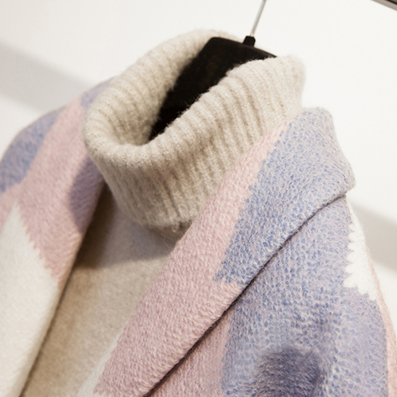 Datos históricos QSC otoño capa abrigo Mujeres Nuevo 2018 de moda de manga larga abrigo de invierno primavera Oficina engrosamiento cuello abrigo - 4