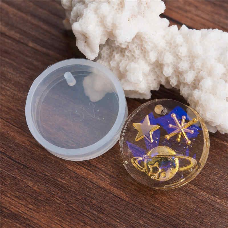 """DoreenBeads قالب دائري لل مجوهرات من مادة الراتنج لتقوم بها بنفسك الحرفية أدوات قوالب راتينج السليكون قالب أبيض 28 مللي متر (1 1/8 """") Dia., 3 قطعة"""