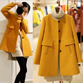 New winter maternity pregnant woolen coat Korean fashion pregnant women loose in the long winter coat pregnant women