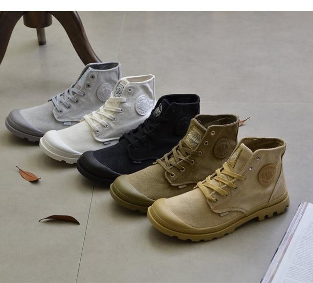 Hommes toile de marche bottes hommes trekking chaussures hommes classique  vintage toile Martin chaussures anti- 45df15fd601