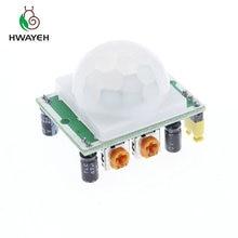 1 шт. SR501 HC-SR501 Регулировка ИК пироэлектрический инфракрасный PIR модуль датчик движения Детектор модуль для arduino