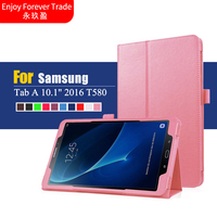 PU Leather Cover SM T585 For Samsung Galaxy Tab A 10 1 T580 T585 Case Cover