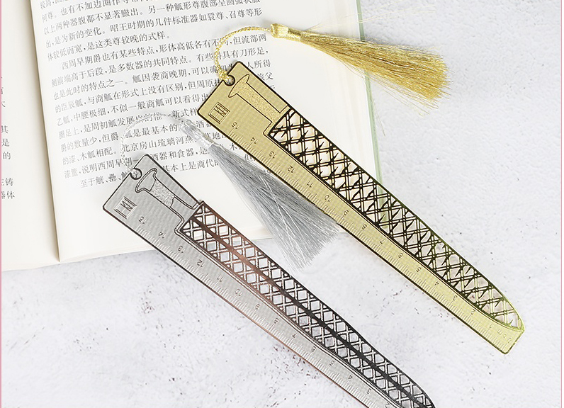 Sword And Ruler Bookmarks Ancient Style Metal Hollow Out Students Creative Stationery Gifts