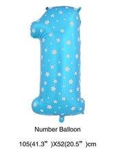대형 40 인치 핑크/블루 하트 도트 디지털 호일 공기 풍선 1 생일 파티 공급 업체 공기 공 baloes 번호 1 크리스마스 부품